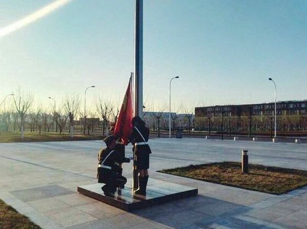 纪念建党九十六周年 南开大学举行升旗仪式